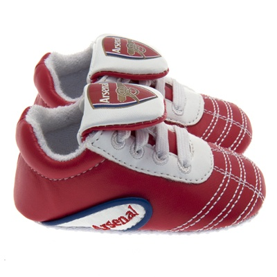 Arsenal FC Baby Crib Shoes 9-12 Months | Arsenal FC Gifts | Arsenal FC Shop