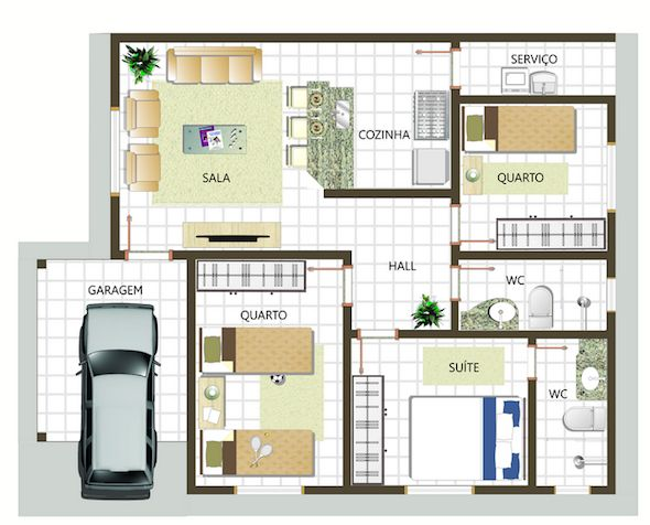 plantas-de-casas-3quartos-1suite