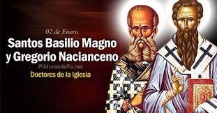 Risultati immagini per San Basilio Magno y San Gregorio Nacianceno