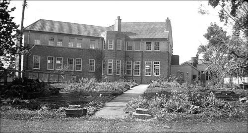 Rear of main block NZ Friends School 1948
