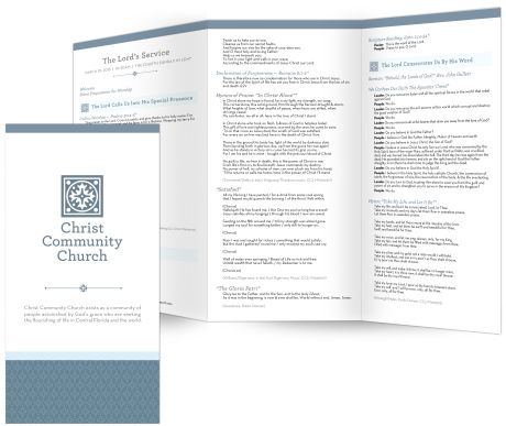 free templates for church bulletins