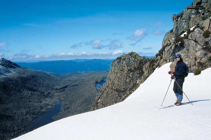 Tasmania's little-known snow fields offer good, uncluttered slopes and spectacular backdrops.