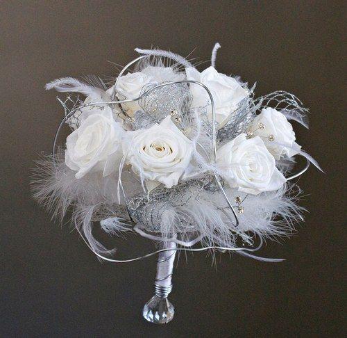 Bouquet de mariée frou frou