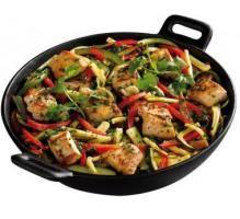 Recette - Wok de poulet et légumes du soleil - Notée 4.4/5 par les internautes
