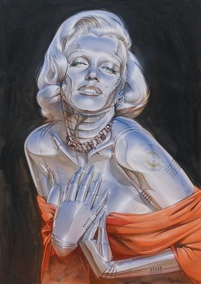 マリリン・モンローをロボットに 空山基が新作ペインティングを個展で披露 | Fashionsnap.com
