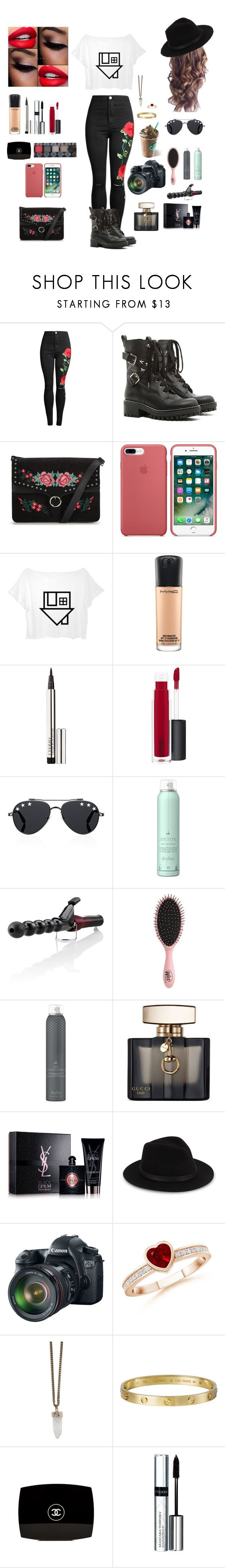 """The Neighbourhood"" by livstephanovichi ❤ liked on Polyvore featuring RED Valentino, MAC Cosmetics, By Terry, Givenchy, Drybar, ego Professional, Topshop, Gucci, Yves Saint Laurent and Saks Fifth Avenue"