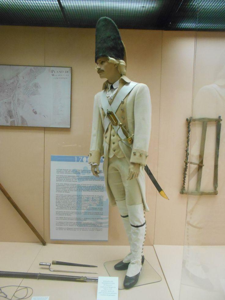 Oficial del Regimiento Fixo de Málaga 1752. Maniquí