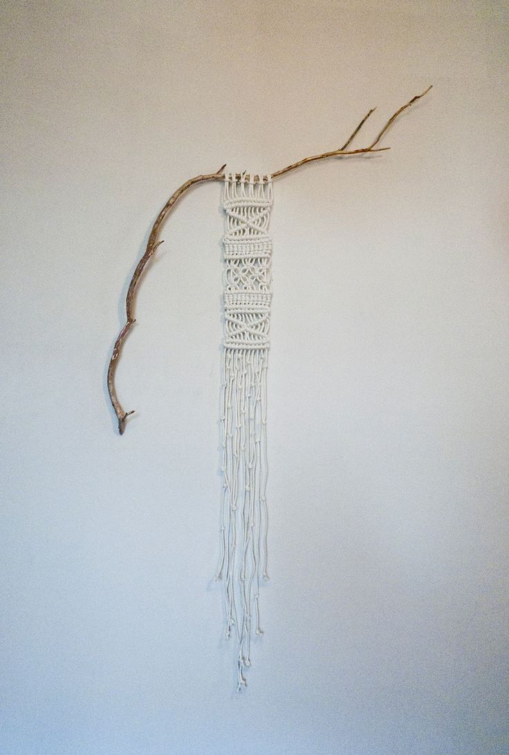 Beautifully simple Macra Me wall hanging natural look.