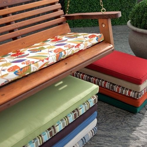 Coral Coast 43 x 14 Porch Swing and Glider Cushion Sienna Stripe contemporary outdoor swingsets