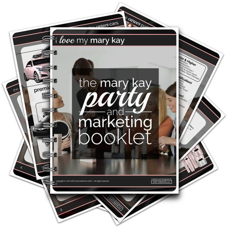 Whether a new or seasoned consultant, the Mary Kay Party & Marketing Booklet compiles years of knowledge and experience into one, success-boosting guide. Check it out » http://goffcreative.com/shop/the-party-marketing-booklet-digital