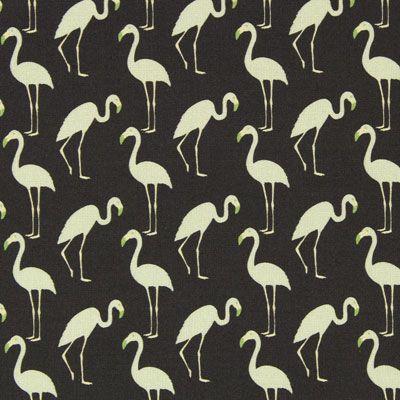 Cretonne Flamingo 5 - Katoen - mintgroen
