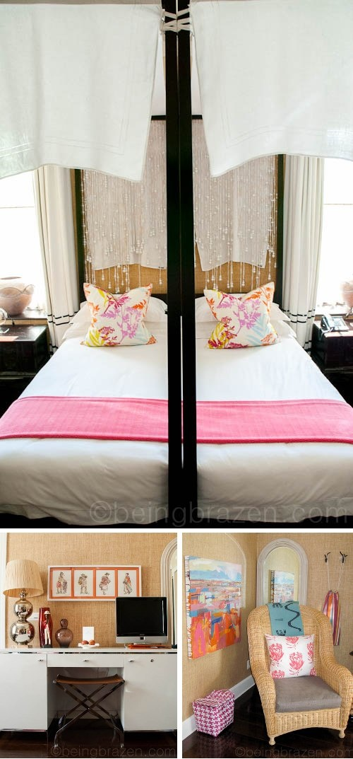 Such lovely bedroom decor - Hout Bay Manor.