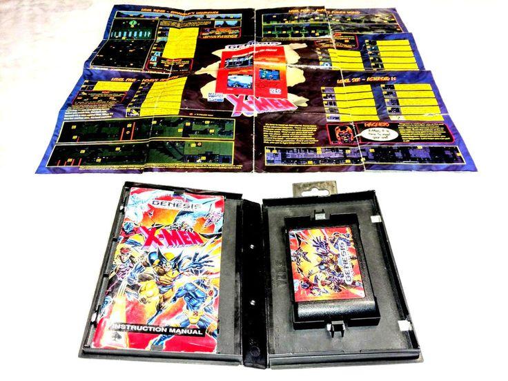 Vintage 1993 Sega Genesis X-Men Video Game and Special Edition Poster Untested #SEGA