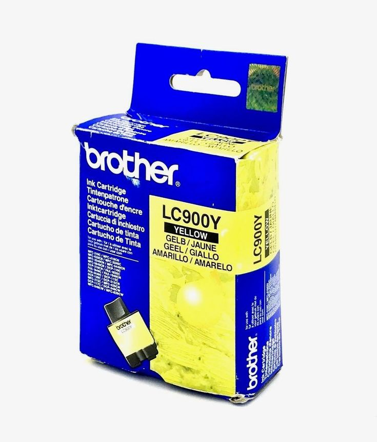 GENUINE Original Brother LC41Y LC900Y Yellow Ink Cartridge LC-900Y NEW SEALED
