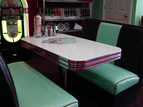 Our Deco Diner Booth Set Has Two Diner Booth Benches Done
