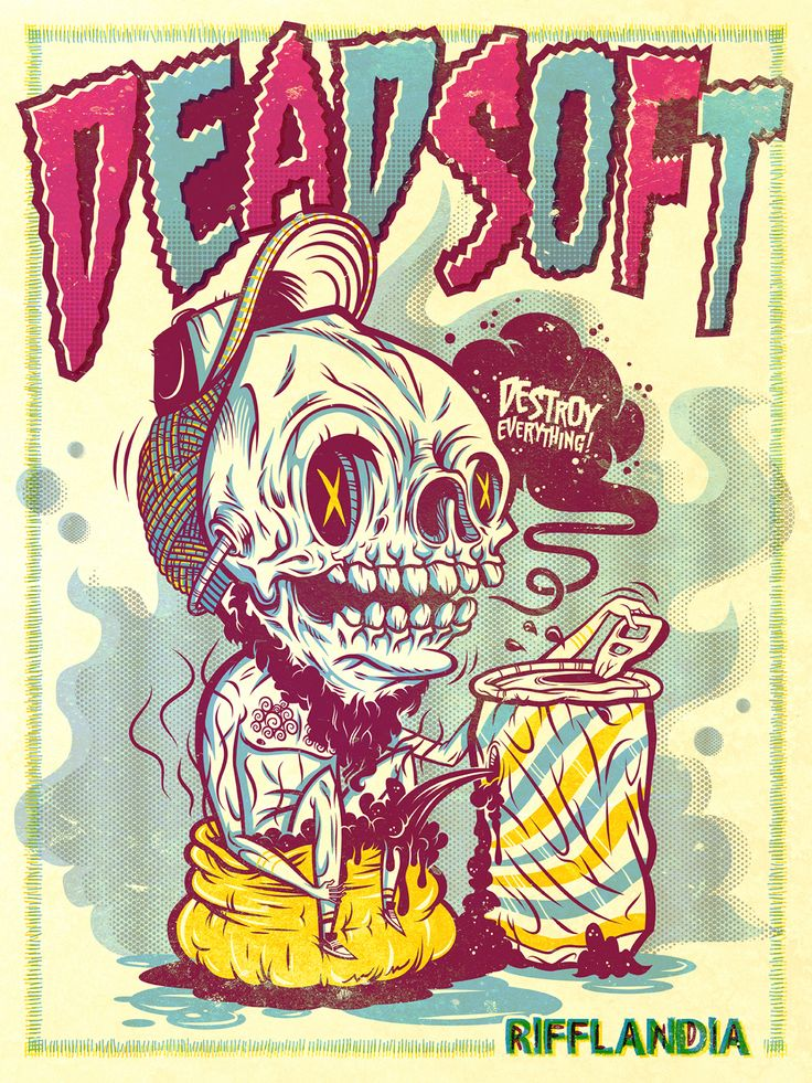 I decided to stop being a lazy person and make a poster for one of my favorite bands DEAD SOFT:) I hope you like it.They are great! Listen to them here. http://deadsoft.bandcamp.com/album/dead-soft-ep