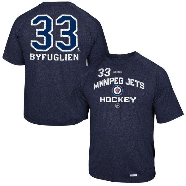 Dustin Byfuglien Winnipeg Jets Reebok No. 33 Locker Status Name & Number Speed Wick T-Shirt – Navy Blue - $30.39
