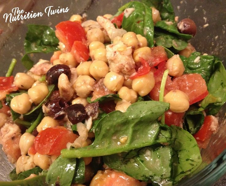 Mediterranean Seafood Salad | Only 296 Calories/Entire Meal | Savory & Packed with Omega-3s | 23 g Protein |For MORE RECIPES please SIGN UP for our FREE NEWSLETTER www.NutritionTwins.com