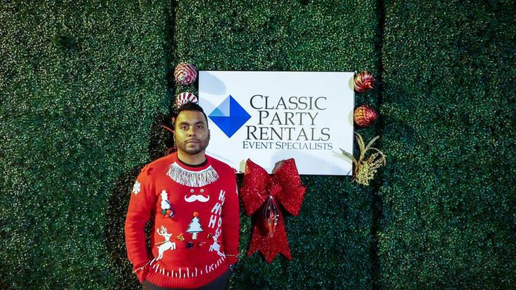 When it comes to embracing an #uglysweater or the holiday spirit, we're always the type to say Fai-Yes! (Pictured: Classic staff accountant Faiyaz Razak, pronounced Fi - yez) Faiyaz Navidad everyone! #happyholidays from the #classic #party #rentals #family #event #rental #eventplanners #holiday #parties #merrychristmas #happychanukah #kwanza #festivus #xmas #classicparty #christmas #feliznavidad #happy #holidays from the #eventprofs at #classicpartyrentals (https://classicpartyrentals.com/)