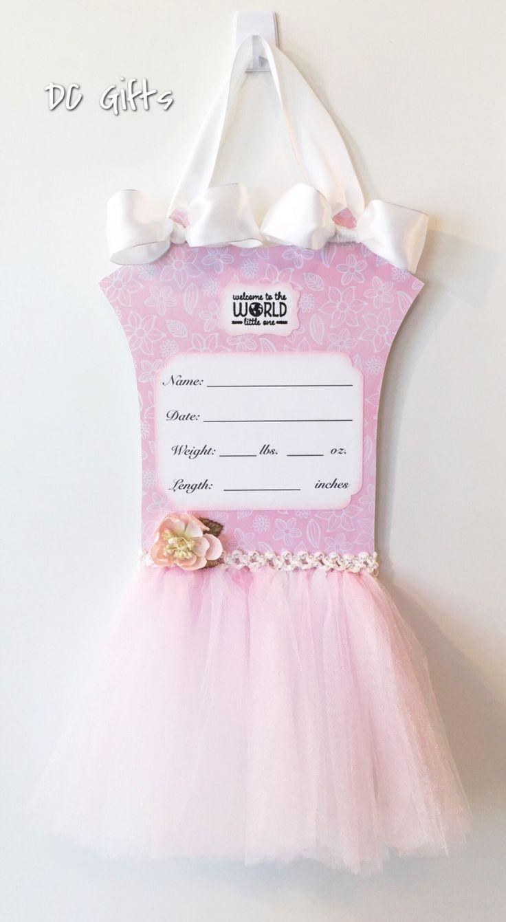 Customizable Baby Hospital Door Hanger, Pink Door Hanger, Hospital Door Hanger, Baby Girl Door Hanger, Baby Door Hanger, Baby Shower Gift by DCGifts on Etsy