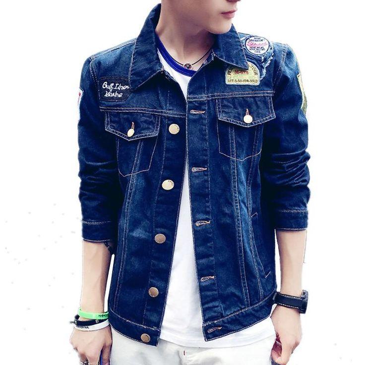 YG6161-8  Cheap wholesale 2017 new Han edition cultivate one's morality leisure coat Tide denim jacket man cowboy shirt