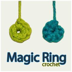 """The Magic Ring (or Adjustable Ring) is used when crocheting in rounds, and should be used for Amigurumi projects. The advantages of using the Magic Ring, is that once tightened, it leaves no hole in the center of your work. It replaces the step of """"Ch 2 and single crochet x in the 2nd chain from the hook"""", which is the first step in many crochet projects. If you refer to the main photo, you will see the old method in green, and the Magic Ring in blue. (Notice there's no hole in the..."""