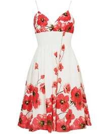 I love sun dresses, they are so light and airy and in the Georgia heat, it's nice to be able to wear something that doesn't stick to you:)!!: Summer Dresses, Spring Dresses, Flowers Dresses, Clothing, Red Flowers, Poppies, Sundresses, Sun Dresses, Floral Dresses