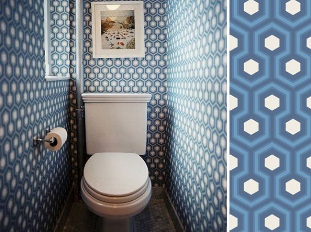 53 best papier peint images on Pinterest Wallpaper, Painted walls - Comment Decorer Ses Toilettes