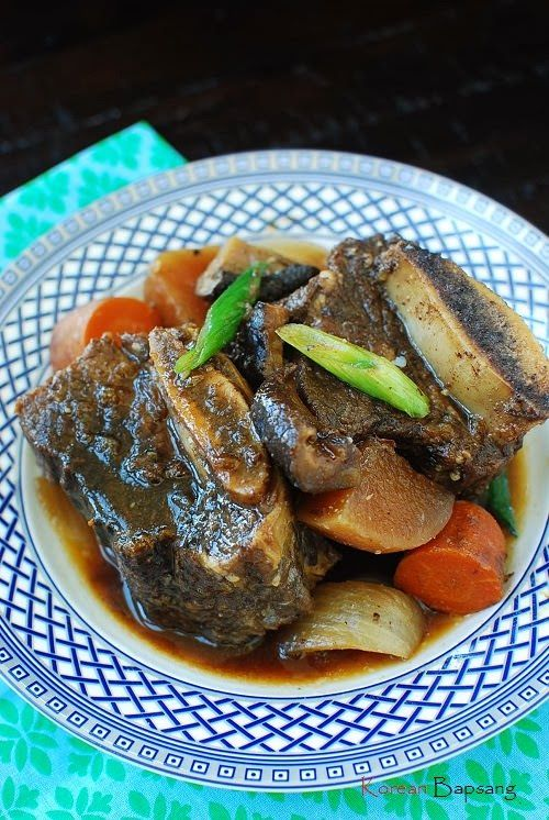 Slow Cooker Galbijjim (Korean Braised Short Ribs) - Korean Bapsang