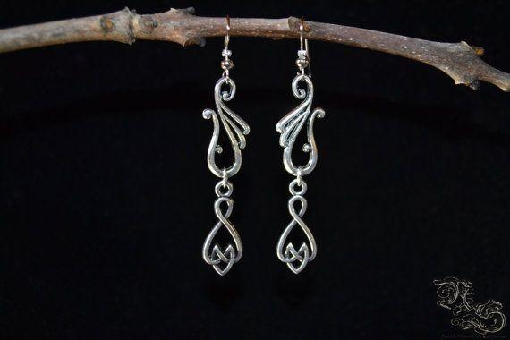 Earrings Elven Symbol Celtic elven viking interlaced  North Shaman