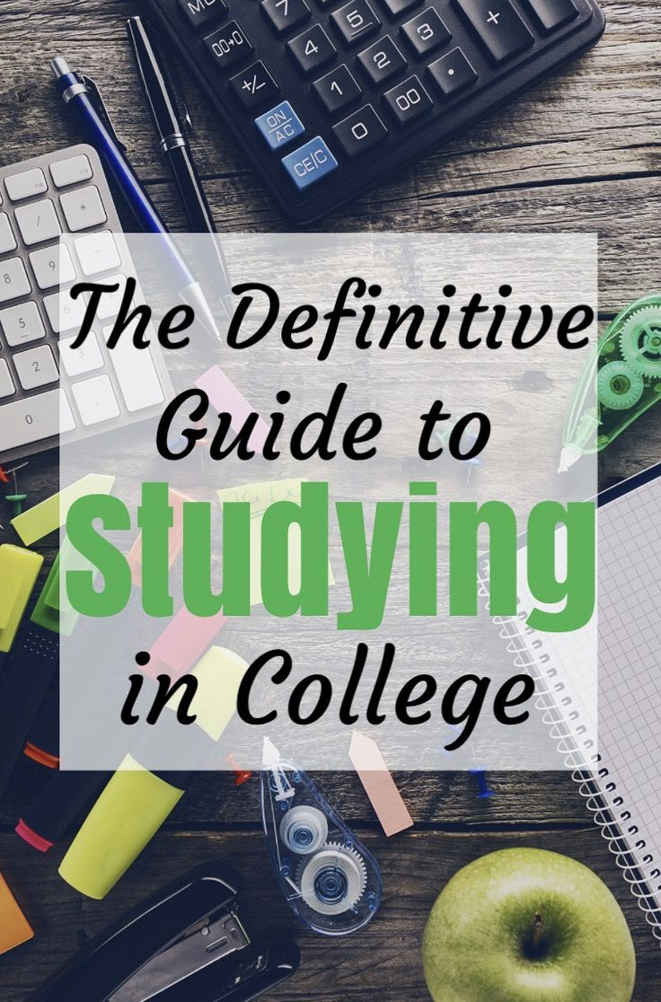 how to develop good study habits for college