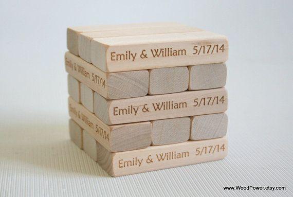 Wooden Blocks / Wedding Guest Book / Wedding Block Tower (Set of 100 Blocks in Wooden Box)