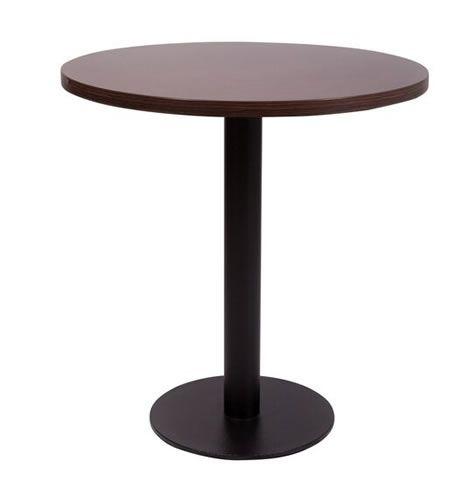Gorzan Coffee Table Black Cast Iron Base Round Slimline Flat Base Round  Table Top