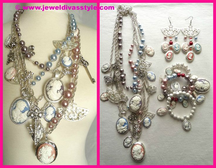 JDS - JEWEL DIVAS OPULENCE ROYALE JEWELLERY SET - http://jeweldivasstyle.com/my-personal-collection-jewellery-ive-made-or-remade-over-the-last-few-months/