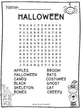 Happy Halloween! This Is A Free Halloween Word Search For You To Use With Your Students!