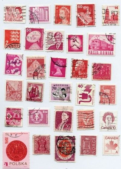 Pink stamps