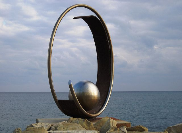 Modern steel sculpture by CyprusPictures, via Flickr