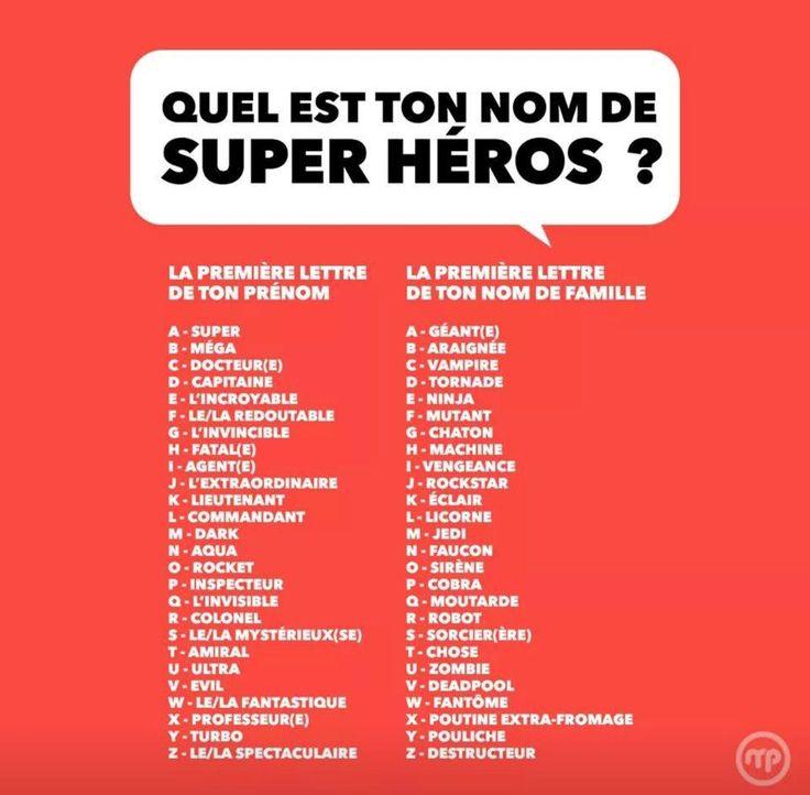 Les 25 meilleures id es de la cat gorie nom de super heros - Quel est le nom le plus porte au monde ...