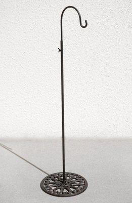 Adjustable Black Iron Shepherds Hook, perfect for indoor ceremony aisle decor i.e. lantern, pompador