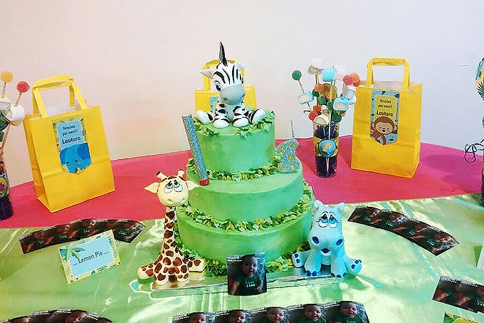 Torta Cumpleaños 1 Año - Animales   Filosofia de Sabor Patisserie