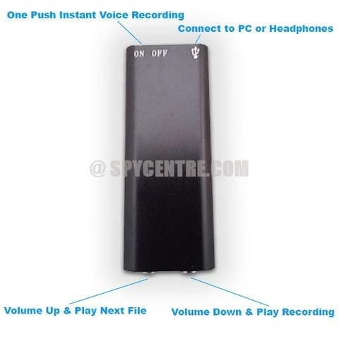 Worlds Smallest Micro Voice Recorder 90 Hours of Storage - Spy Centre Security - 6