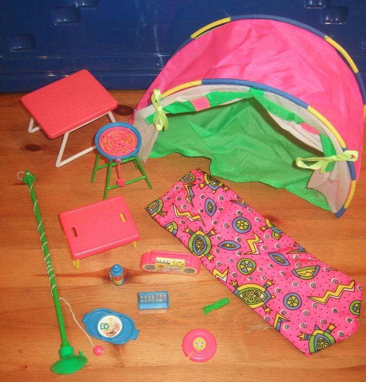 Sindy Outdoor Fun Set c&ing tent set Vintage/ retro 90u0027s incomplete vintage   eBay & 16 best Barbie Camping images on Pinterest   Barbie doll Barbie ...