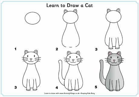¿Qué puedo hacer hoy?: Dibujos paso a paso: gato