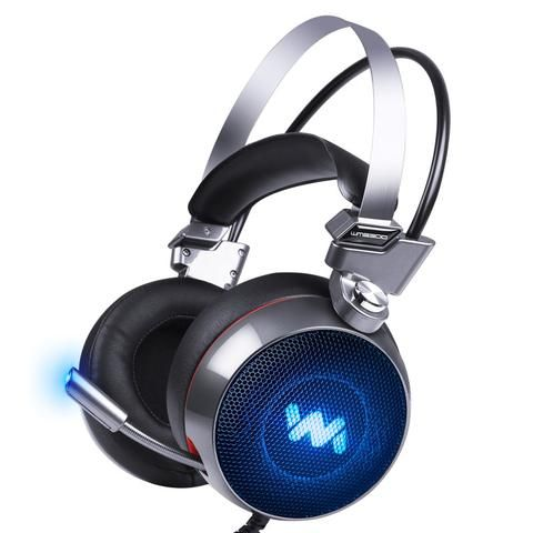 FBUANG 9300 Deep BassGaming HeadsetStereo Surround Headband Headphones with MicrophoneLED Light For ComputerPC Gamer Note:...