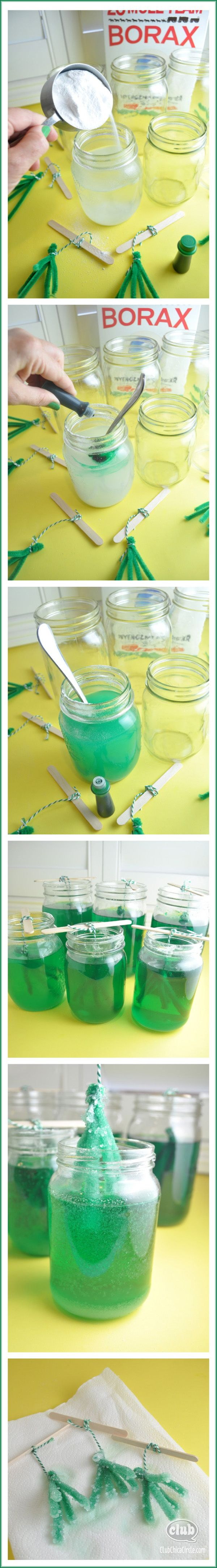 Borax crystals DIY - make your own emerald crystal garden inspired by #DisneyOZMovie #ad. Super fun craft for kids.