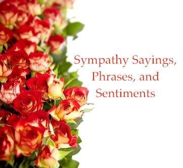 Sympathy Sayings, Phrases, and Sentiments -Here is a collection of sympathy sayings and phrases for you to copy into your cards or to tell to the florist when you send flowers.