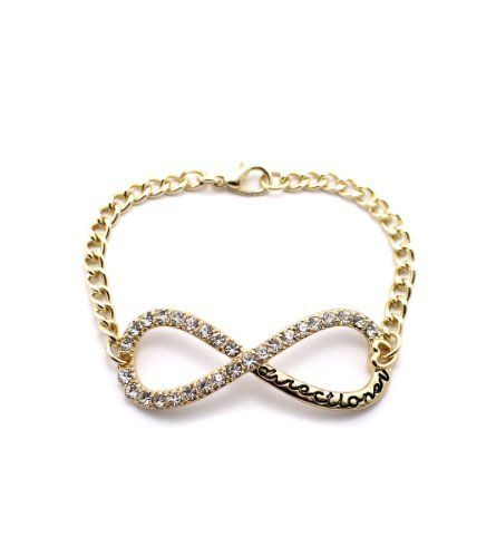 Gold One Direction 7 Inch Infinite Directioner Iced Out Link Bracelet JOTW. $9.95. 100% Satisfaction Guaranteed!. Great Quality Jewelry!