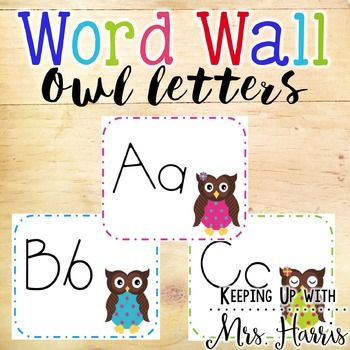Owl Word Wall - Owl Word Wall Letters This file prints four to a page alphabet letters. Perfect size for a word wall display. This is the perfect pack for your owl word wall. *****************************************************************************