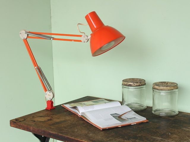 Mid-Century Orange Luxo Swing Arm Industrial Desk Lamp LTNG75010