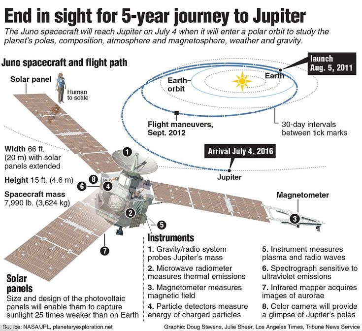 Juno's countdown begins: After 5 years and 1.8 billion miles, Nasa probe hurtles towards Jupiter at150,000 mph | Daily Mail Online